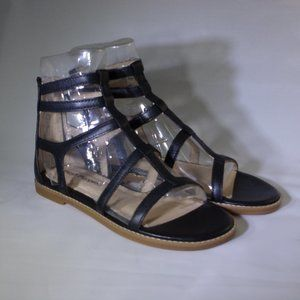 Hush Puppies Abney Chrissie Lo Flat Black Sandals
